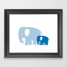 Mommy and child elephant Framed Art Print