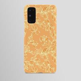 Orange Floral Pattern Android Case