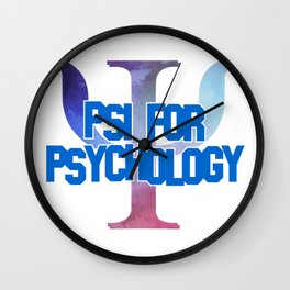 Psi for Psychology Wall Clock