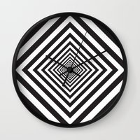 square Wall Clocks featuring Square by Vadeco