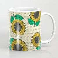 sunflower Mugs featuring Sunflower by Vickn