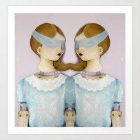 Twin Sisters Art Print