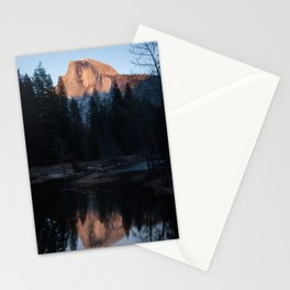 Half Dome Reflected in the Sunset Stationery Cards