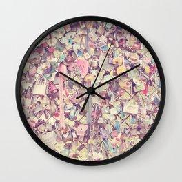 Love Locked Wall Clock