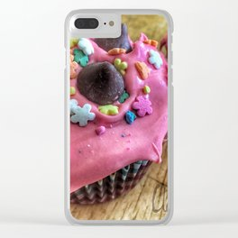 Pink Cupcakes Clear iPhone Case