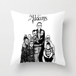 Addams Family Throw Pillow