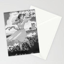 retro old Fruehling in Boehmen und Maehren poster Stationery Cards