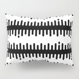 Drips: Black Pillow Sham