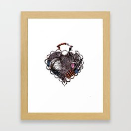 Heart Brooch Framed Art Print