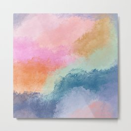 Colorful Fresco Metal Print