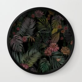 Tropical Iridescence Wall Clock