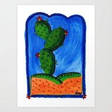 cactus dreaming Art Print