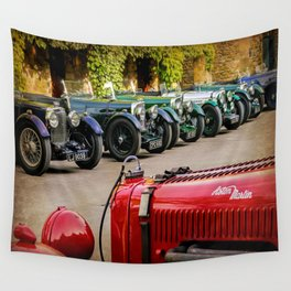 Vintage Aston Martins.  Wall Tapestry