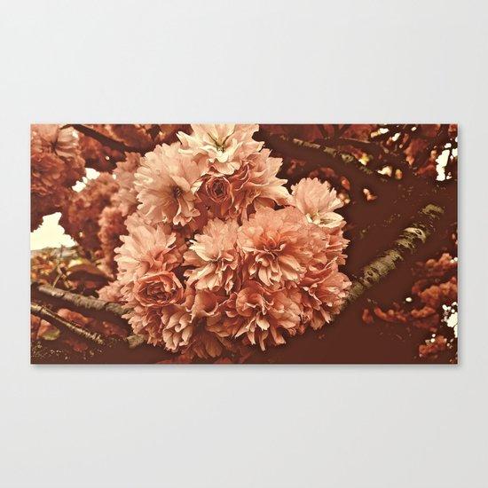 Vintage Ornamental Plum Blossoms Canvas Print