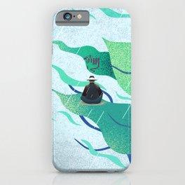 Rain-hit man iPhone Case