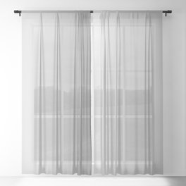 White to Gray Vertical Linear Gradient Sheer Curtain