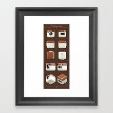 Instagram Orthographic Camera Framed Art Print