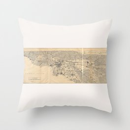 Vintage 1915 Los Angeles Area Map Throw Pillow