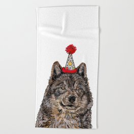 Wolf Party Beach Towel