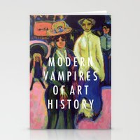 modern vampires of art history Stationery Cards featuring Modern Vampires by Modern Vampires of Art History
