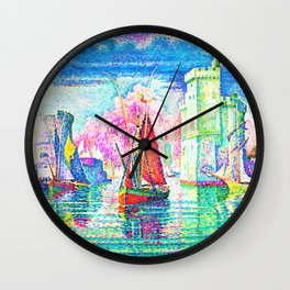 Paul Signac - Entrance to the port of La Rochelle - Digital Remastered Edition Wall Clock