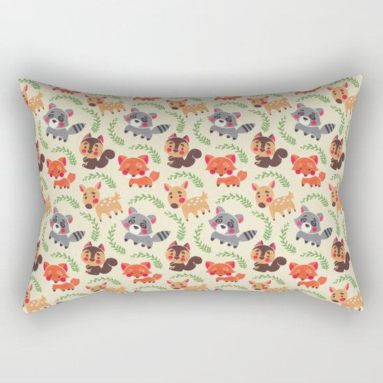 The Happy Forest Friend Rectangular Pillow