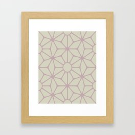 Dusty Rose Flower Framed Art Print