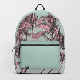 Tropical Palm Trees In Surreal Pink Backpack