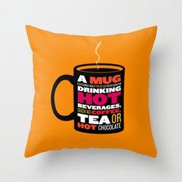 Mug - Wikipedia Illustrated Throw Pillow