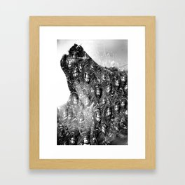 """"""" out foxed """" Framed Art Print"""