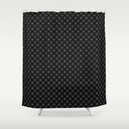 CLOVER - black and white Shower Curtain
