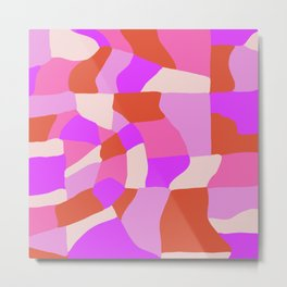 faye patchwork Metal Print