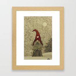 """Old """"Tomten Elmer"""" is longing for Christmas time. Framed Art Print"""