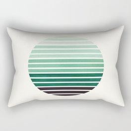 Deep Green Mid Century Modern Minimalist Scandinavian Colorful Stripes Geometric Pattern Round Circl Rectangular Pillow