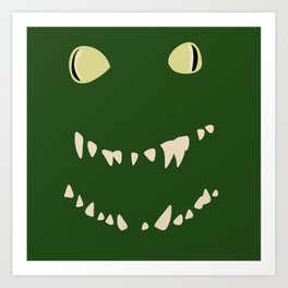 Derpy Croc Art Print