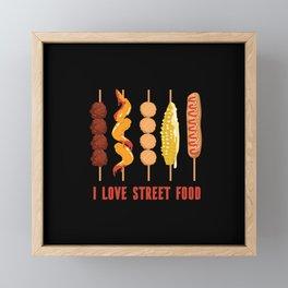 I Love Street Food Lover Framed Mini Art Print