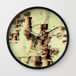 Illustration Mashup Wall Clock