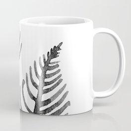 Black Watercolor Leaf Coffee Mug