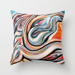 Transmission énergétique du savoir Throw Pillow