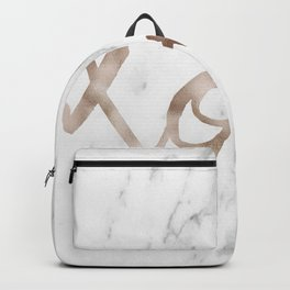 Rose gold marble XOXO Backpack