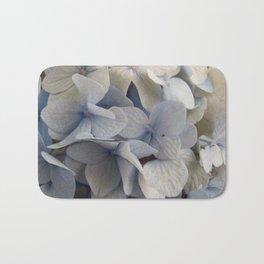 White and Blue Hydrangea Bath Mat