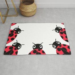 Peeking Ladybugs Rug
