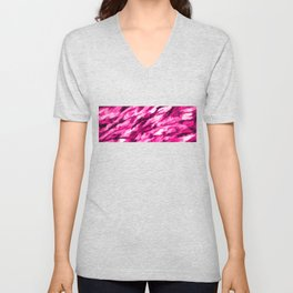 Hot Pink on Pink Designer Camouflage pattern Unisex V-Neck