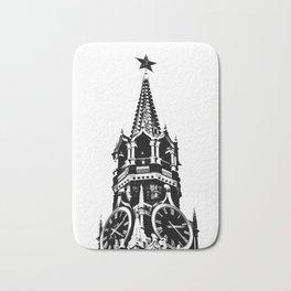 Kremlin Chimes-b&w Bath Mat