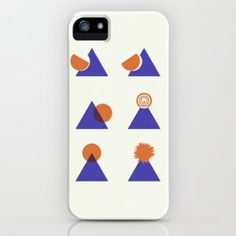 Circle Meets Triangle - Composition 13 iPhone Case