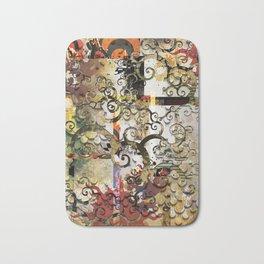 Abstract Tree of Life Bath Mat