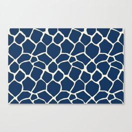Giraffe Pattern Animal Print (navy) Canvas Print