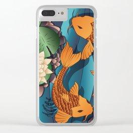 Carp Koi Fish in pond 002 Clear iPhone Case