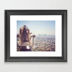 View from the Top, Los Angeles Framed Art Print