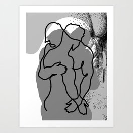 NOODDOOD Lines 13 Art Print
